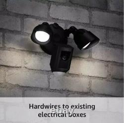 Ring Floodlight Cam Plus Outdoor Wired 1080p Surveillance Camera Black (New)