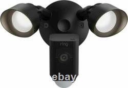 Ring Floodlight Cam Wired Plus Outdoor Wired Full HD Surveillance Camera Black