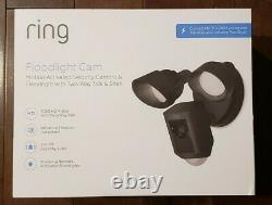 Ring Floodlight Camera Motion-Activated HD Security Cam 2-Way Talk Black 2-PACK