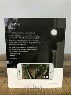 Ring Floodlight Camera Motion-Activated HD Security Cam Two-Way Talk Scratched