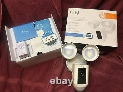 Ring Floodlight Camera Motion HD Security Cam Two-Way Talk White with Chime pro