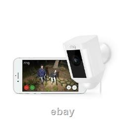 Ring Spot Light Cam Wired Outdoor Rectangle Security Camera in White