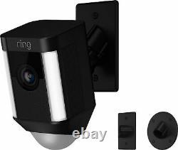 Ring Spotlight Cam Indoor/Outdoor 1080p Wi-Fi Wireless Security Camera Black