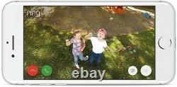 Ring Spotlight Cam Solar Outdoor Security Wireless Surveillance Camera Black NEW