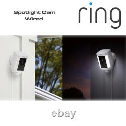 Ring Spotlight Cam Wired HD Camera with Two-Way Talk & Spotlights Security Cam