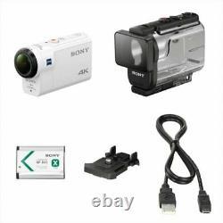 SONY Digital 4K Video Camera Recorder Action Cam FDR-X3000 White