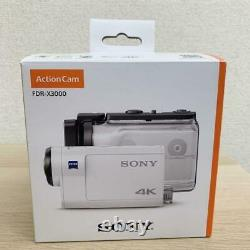 SONY Digital 4K Video Camera Recorder Action Cam FDR-X3000 White Excellent