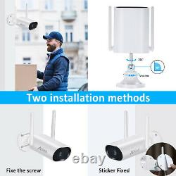 Security Camera System Wireless Outdoor 3MP 8CH Audio 1TB HDD 5MP NVR Pan Rotate