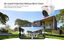 Solar Wireless Security Camera Outdoor Pan Tilt WiFi Home Smart Cam Waterproof