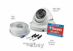 Swann 4600 Pro-A856 H856 1080p HD Dome CCTV Camera Night Vision +Splitter Cable