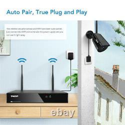 TMEZON 1080P Wireless WiFi Camera 8CH HD NVR Home Outdoor Security System 1TB