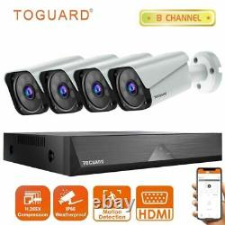 TOGUARD 8CH 1080P CCTV Security Camera System DVR 2MP Surveillance Outdoor Cam