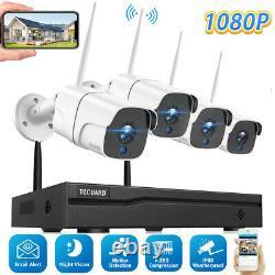 TOGUARD 8CH 1080P Security Camera System Home Outdoor CCTV Surveillance Cam IP66