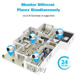 TOGUARD 8CH 1080P Wireless Security Camera System NVR CCTV Cam with12 LCD Monitor