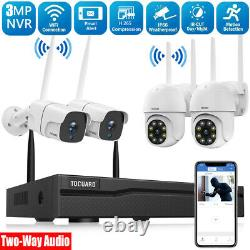 TOGUARD 8CH NVR WiFi Security Camera System 3MP Outdoor Home Cam IR Night Vision