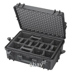Waterproof IP67 Hard Protective Briefcase Camera Case + Moveable Padded Planks