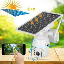 WiFi 1080P HD IP Camera Solar Waterproof Night Vision Outdoor PTZ Security Cam