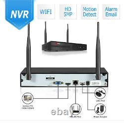 Wireless Security Camera System Outdoor Home 5MP 8CH With 1TB Hard Drive WiFi IR