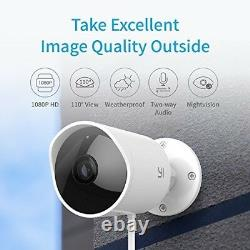 Yi Outdoor Security Camera 1080p Cloud Cam 2.4g Wireless Ip Waterproof Vision