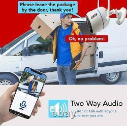 1080p 8ch Cctv Ir Outdoor Audio Surveillance Home Security Camera System 1to Disque Dur