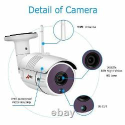 1080p Wireless Home Security Camera System Outdoor 8ch 12 Monitor 1 To Hdd Vidéo
