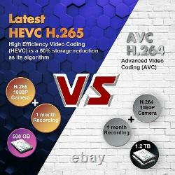2 Façon Audio 1080p Hd 8ch Dvr Extérieur Cctv Home Security Camera System Wifi