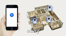 2 X Hd 1080p Caméra Ip Intérieure Wifi Ptz Cctv Sécurité Sans Fil Smart Home Ir Cam