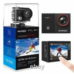 2019 Akaso Ek7000 Pro 4k Caméra D'action Ultra Hd Cam 16mp Wifi Waterproof+32gb Sd