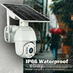 4g/wifi 1080p Hd Solar Power Ptz Ip Camera Security Cctv Waterproof Outdoor Cam