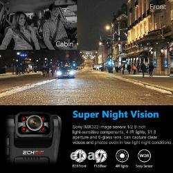 4k 2160p Voiture Dash Cam Vidéo Dvr Dual Lens Wifi Gps Sensor Camera Recorder Night