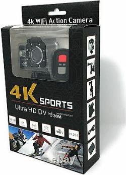 4k Wifi Action Camera Pro Caméscope Sport Cam Étanche Go Sous-marine À Distance