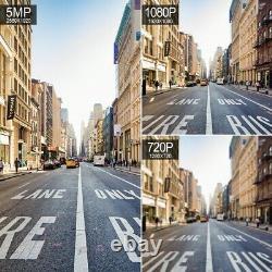 5mp 1080p 5x Zoom Ptz Caméra De Sécurité Extérieure Sans Fil Ip Cctv Night Vision Cam