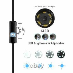 6 Led Étanche Wifi Inspection Endoscope Snake Tube Caméra Pour Iphone Android