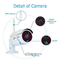 8ch 1080p Security Camera System Wireless Outdoor Avec 12 Moniteur Wifi Nvr 1 To