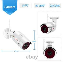 8ch 12 Monitor 1080p Wireless Security Camera System Outdoor Avec 1 To Hdd Cctv