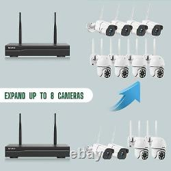 8ch Nvr Wifi Caméra De Sécurité Sans Fil 3mp Cctv Extérieur Cam Ir Nightvision