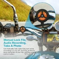 A10 Ips Motorcycle Wi-fi Gps Dash Cam Caméra Enregistreur 30fps 2ch 1080p Avec 64gb