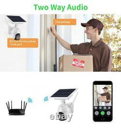 Accueil Caméra De Sécurité Outdoor Solar Battery Powered Wireless Wifi Cam Pan Tilt