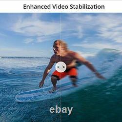 Akaso Brave 7 Le Wifi Caméra D'action 20mp Avec Écran Tactile Vlog Cam Fisheye Lens