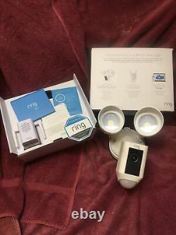 Anneau Projecteur Caméra Motion Hd Sécurité Cam Two-way Talk White Avec Chime Pro