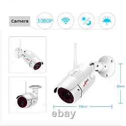 Anran 1080p Hd Wifi Security Camera System Wireless Outdoor 2tb Cctv 8ch Nvr Kit