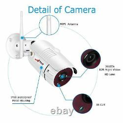 Anran 1080p Home Security Camera System Wireless 8ch Outdoor 6pcs 2 To Disque Dur