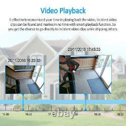 Anran 1080p Système De Caméras De Sécurité Sans Fil 8ch Wifi Nvr Avec Disque Dur 1/2tb