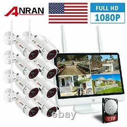 Anran 15lcd 8ch Nvr Wifi Security Camera System 2to Hdmi 1080p Hd Vision Nocturne