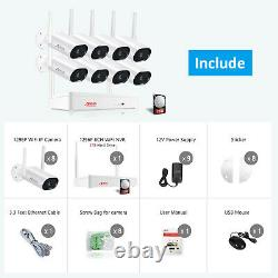 Anran 3mp Home Wireless Security Camera System Outdoor 2tb Hdd 5mp Nvr Audio Kit