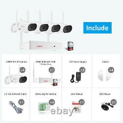 Anran 8ch 2k Extendable Outdoor Home Wireless Security Camera System Audio 1tb