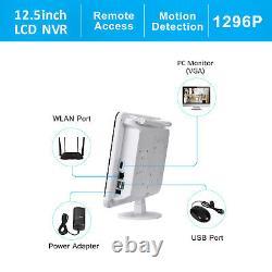 Anran 8ch 3mp Sans Fil Wi-fi Caméra De Sécurité Système Extérieur Avec 12''monitor 1tb