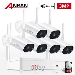 Anran Hd 3mp Wireless Security Wifi Ip Camera System 8ch Outdoor 5mp Nvr 1 To Disque Dur
