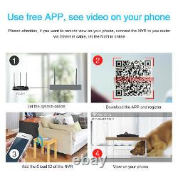 Anran Outdoor Wireless Security Wifi Camera System 1080p 8ch 1 To Disque Dur Nvr