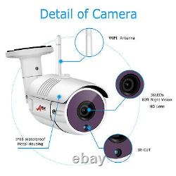 Anran Outdoor Wireless Security Wifi Camera System 1080p 8ch 1 To Hdd Nvr Cctv Hd
